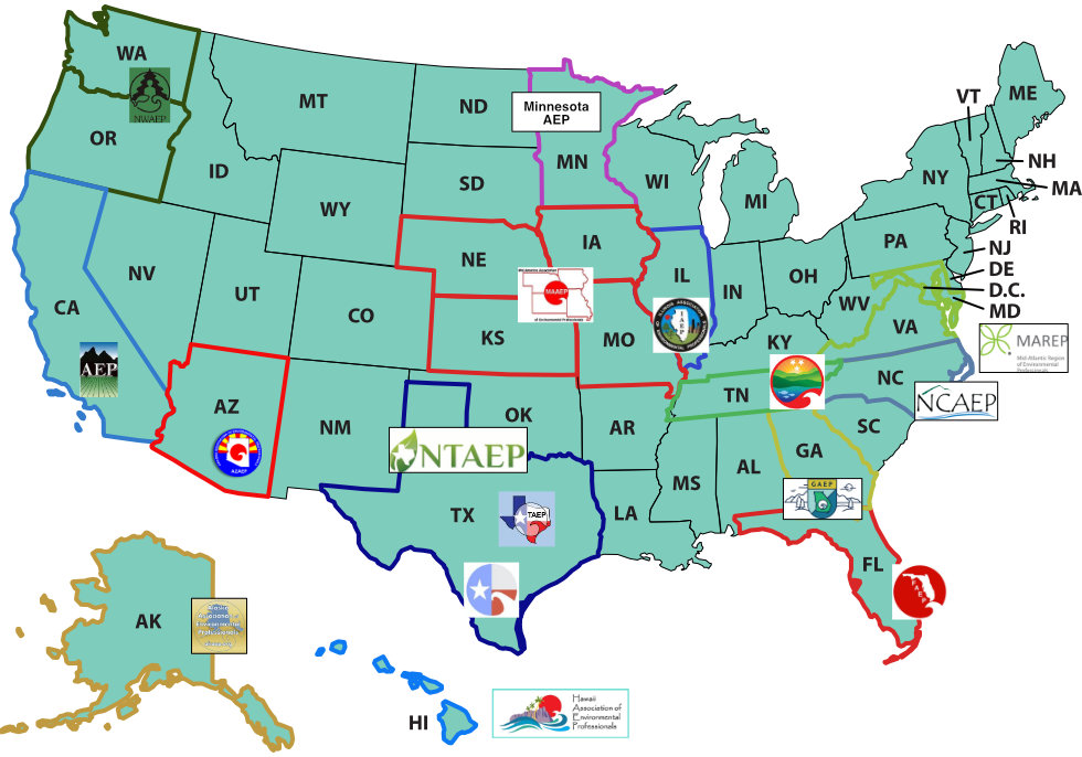 NAEP Chapter Map